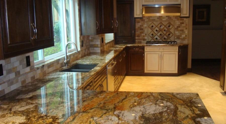 kirkland granite slab kitchen