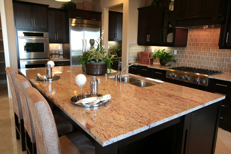 Five Star Granite Slab Kitchen Remodel Kirkland Seattle